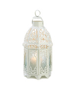 White Lattice Candle Lantern - $24.00