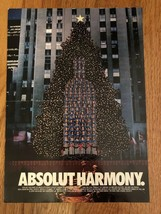 Absolut Harmony Rockefeller Center Original Magazine Ad - $2.49