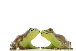 Hagen Renaker Miniature Frogs in Love Ceramic Figurine Set image 1