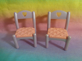 Vintage 1995 Fisher Price Once Upon A Dream Castle Replacement Dining Chairs - $11.83