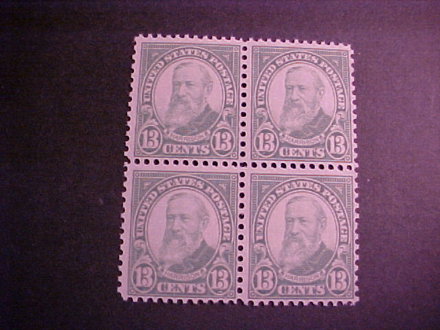 SCOTT U. S. 694 BLOCK OF FOUR MINT NEVER HINGED