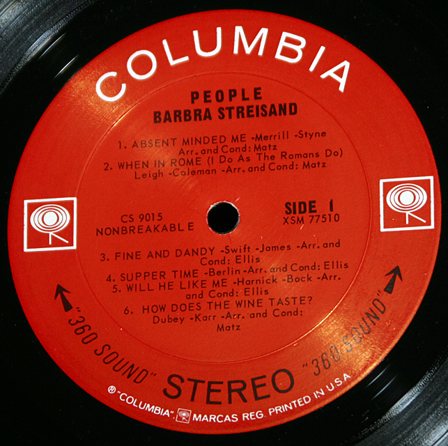 "Barbra Streisand ""People""    LP"