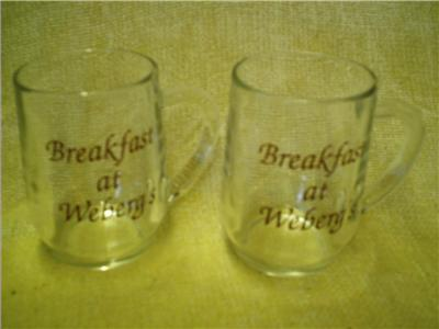 Set2 Advertising Mugs Cups Breakfast At Weberg's Clear