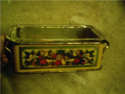 1981 Teleflora Holder w Pyrex Glass Baking Dish England