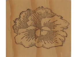Pansy Wood Mounted Rubber Stamp  image 1