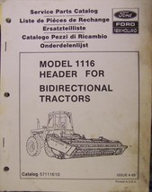 New Holland 1116 Header Parts Manual - $18.00