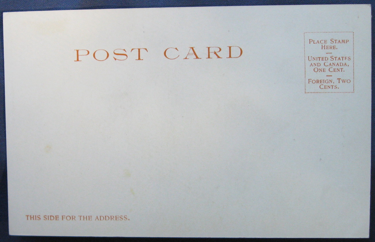 MINT Antique, 1900 Detroit Photographic, Undivided Postcard,