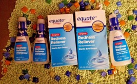 LOT OF 5 Equate Original Redness Reliever 0.50 oz/1.0oz  Eye Drops 08/20... - $14.36