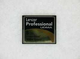 Lexar Professional Udma 8GB 300X Velocidad Pn: 2726 Rev Un Compact Flash Tarjeta