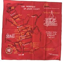 Vintage 1982 McDonalds Scarf Handerchief Bandana Wineries Of Napa Valley... - $20.87