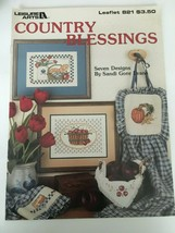 Country Blessings Leisure Arts Counted Cross Stitch Leaflet 821 Apples P... - $3.00