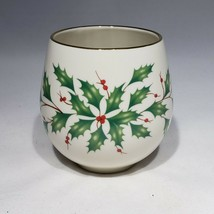 Lenox Say It With Silk Christmas Holiday Holly berry Votive Holder No Ca... - $7.95
