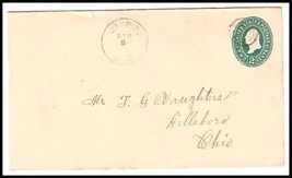 1896 Jaybird OH Discontinued/Defunct (DPO) Postal Cover - $9.95