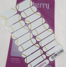 Jamberry Magnetic Gold 0916 StyleBox SB17MARF2 Nail Wrap Full Sheet - $15.14
