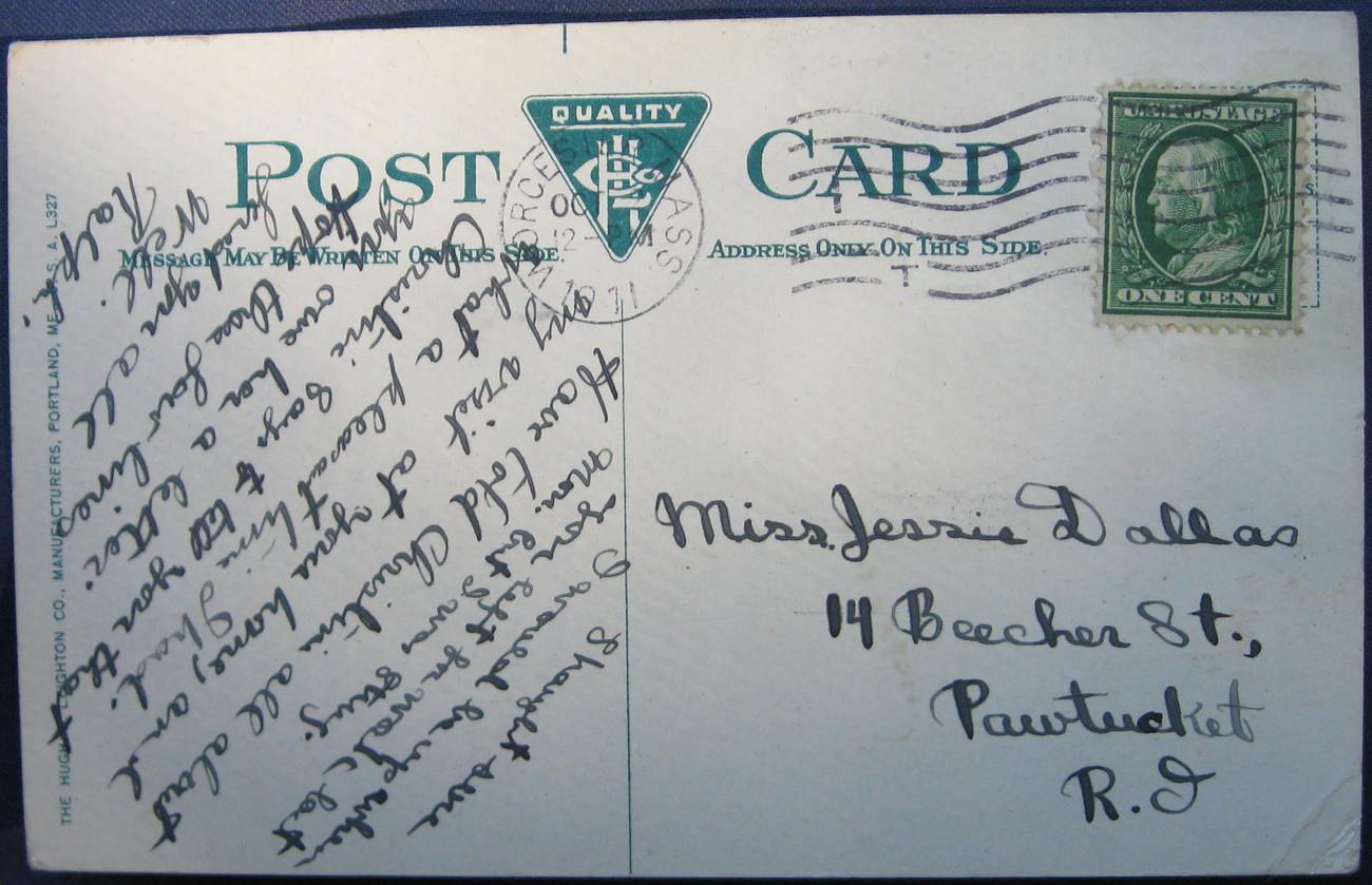 Antique, Leighton, Full Bleed Postcard, First Baptist Church