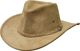 Henschel Cowhide Suede Weekend Walker Cowboy Hat Crushable Made In USA T... - $70.00