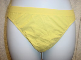 Jockey Seamfree Panty (Cotton/Nylon) Yello Sz 5/Sm  or 6/M SP-Slightly I... - $11.99