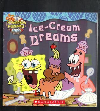 Sponge Bob Square Pants, Two Books,Ice-Cream Dreams, Secret Valentine, 2004