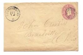 c1875 Southington, OH Vintage Postal Cover - $9.95