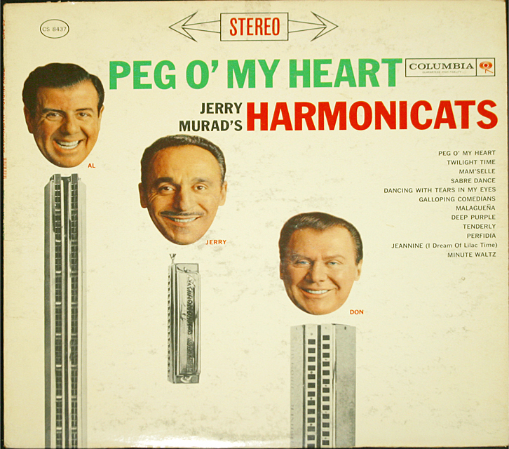 "Jerry Murad's Harmonicats ""Peg O' My Heart""   LP"