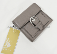 Michael Kors Cooper Medium Leather Carryall Card Holder . Small Wallet in Cinder - $89.00