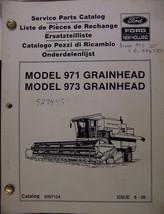 New Holland 971, 973 Grain Heads Parts Manual - $24.00