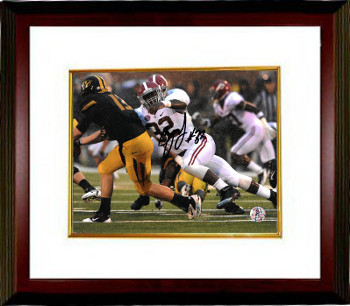 CJ Mosley signed Alabama Crimson Tide 8x10 Photo #32 Custom Framed (white jersey