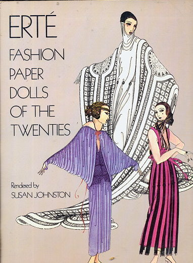1978 Erte Fashion Paper Dolls - 1920s Flapper Style