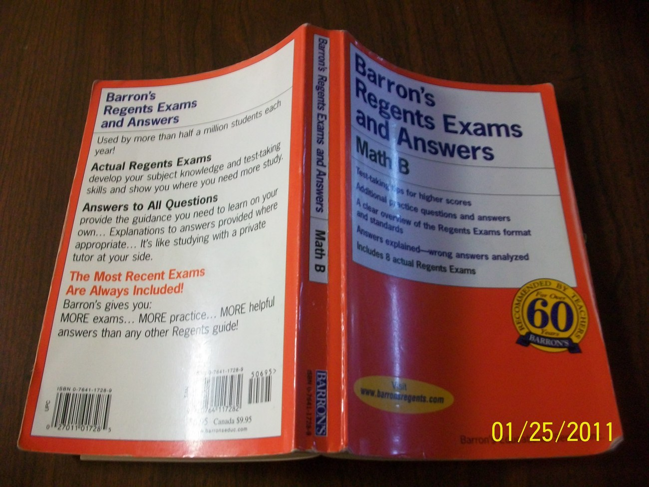 Barron's Regents Exams and Answers: Math B Paperback ISBN 0764117289   15281035