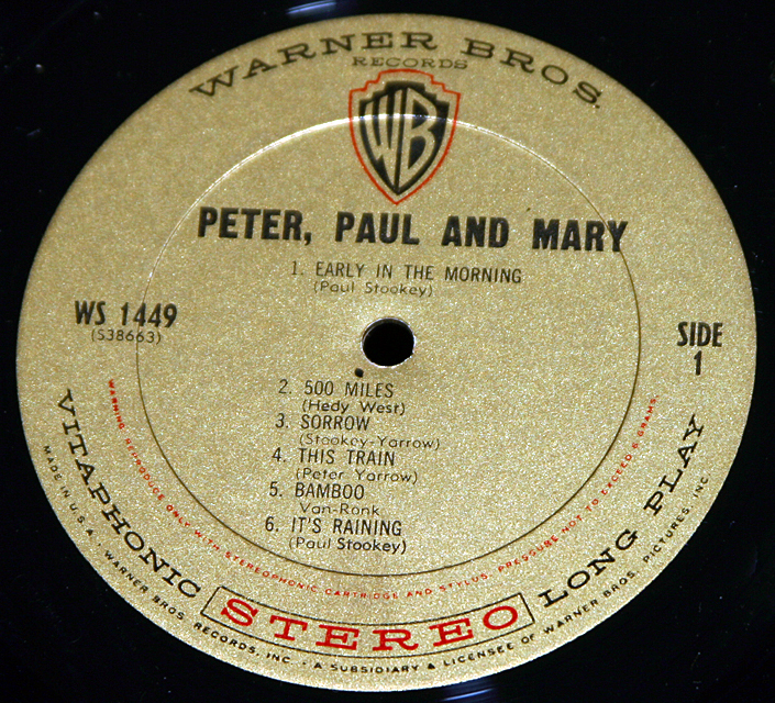 Peter, Paul & Mary--Self Tittled    LP