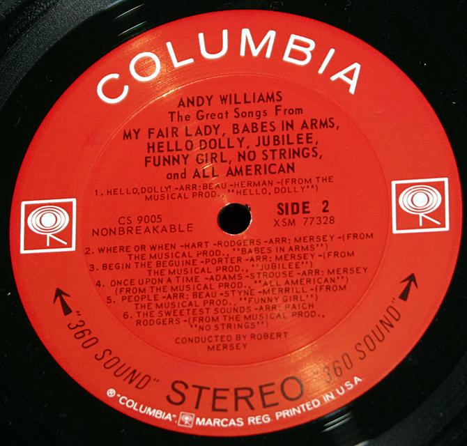 "Andy Williams ""My Fair Lady""   LP"