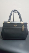 NWOT New Coach Grace 20 Leather Black Satchel Handbag Purse 31918 - $168.29