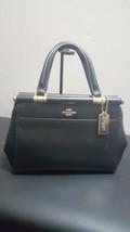 NWOT New Coach Grace 20 Leather Black Satchel Handbag Purse 31918 - £129.91 GBP