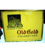 "1930's Antique OLD GOLD Cigarette Tin ""A Trip B... - $12.00"