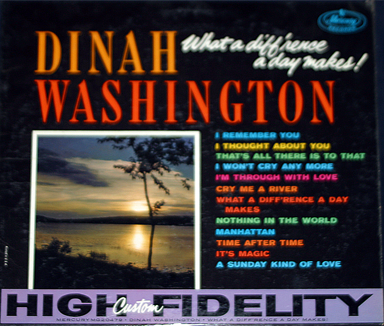 Dinah washington what a difference a day makes cover