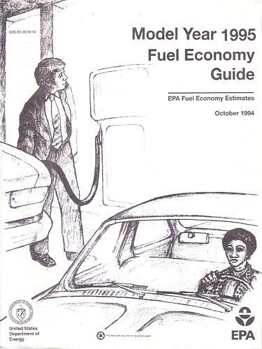 EPA 1995 Fuel Economy Guide vintage US brochure Gas Mileage