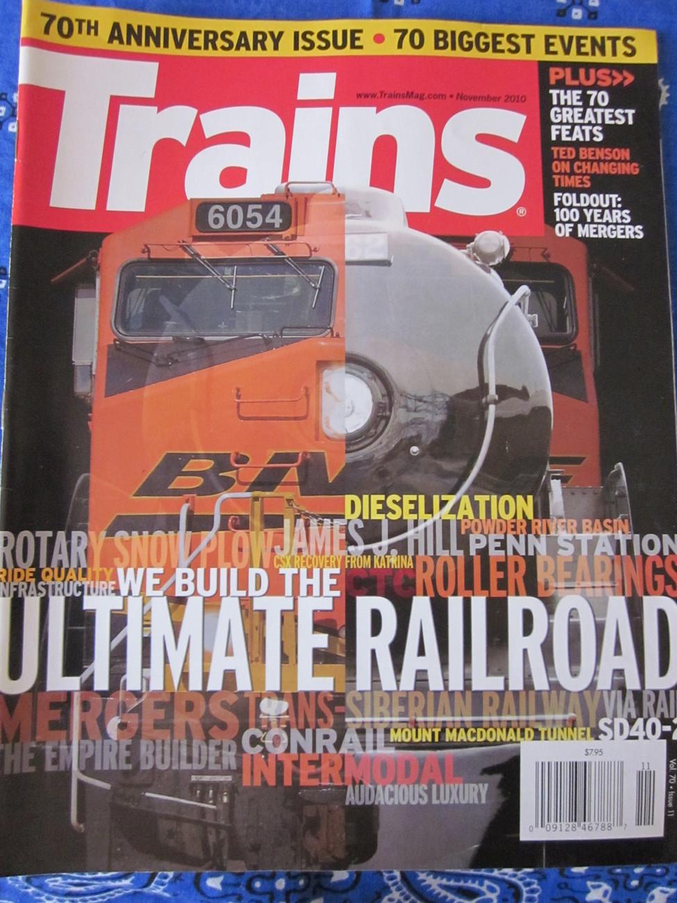 Trains Magazine Back Issue November 2010