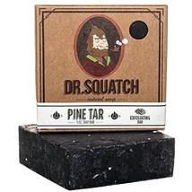Dr. Squatch Pine Tar Soap Men's Black Soap Bar Handmade Natural Woodsy S... - $14.11