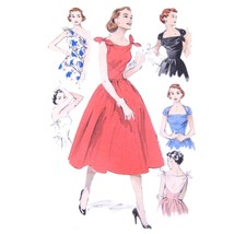 An item in the Collectibles category: Vtg 60s Butterick 6439 Misses Fit Flared Dress Change About Neckline Easy 16 FF
