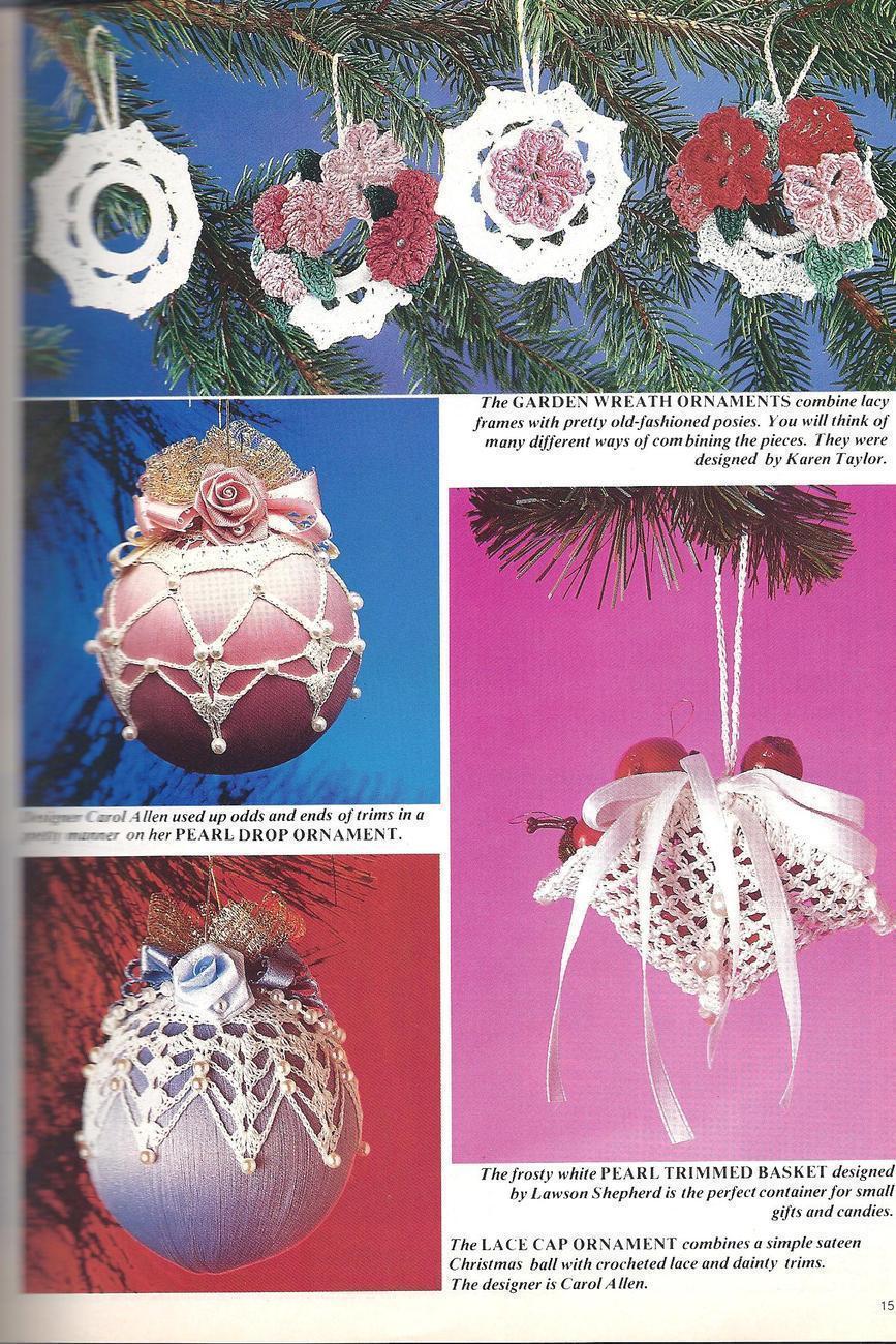 Christmas Crochet Mag~Village~Ornaments~Doilies+