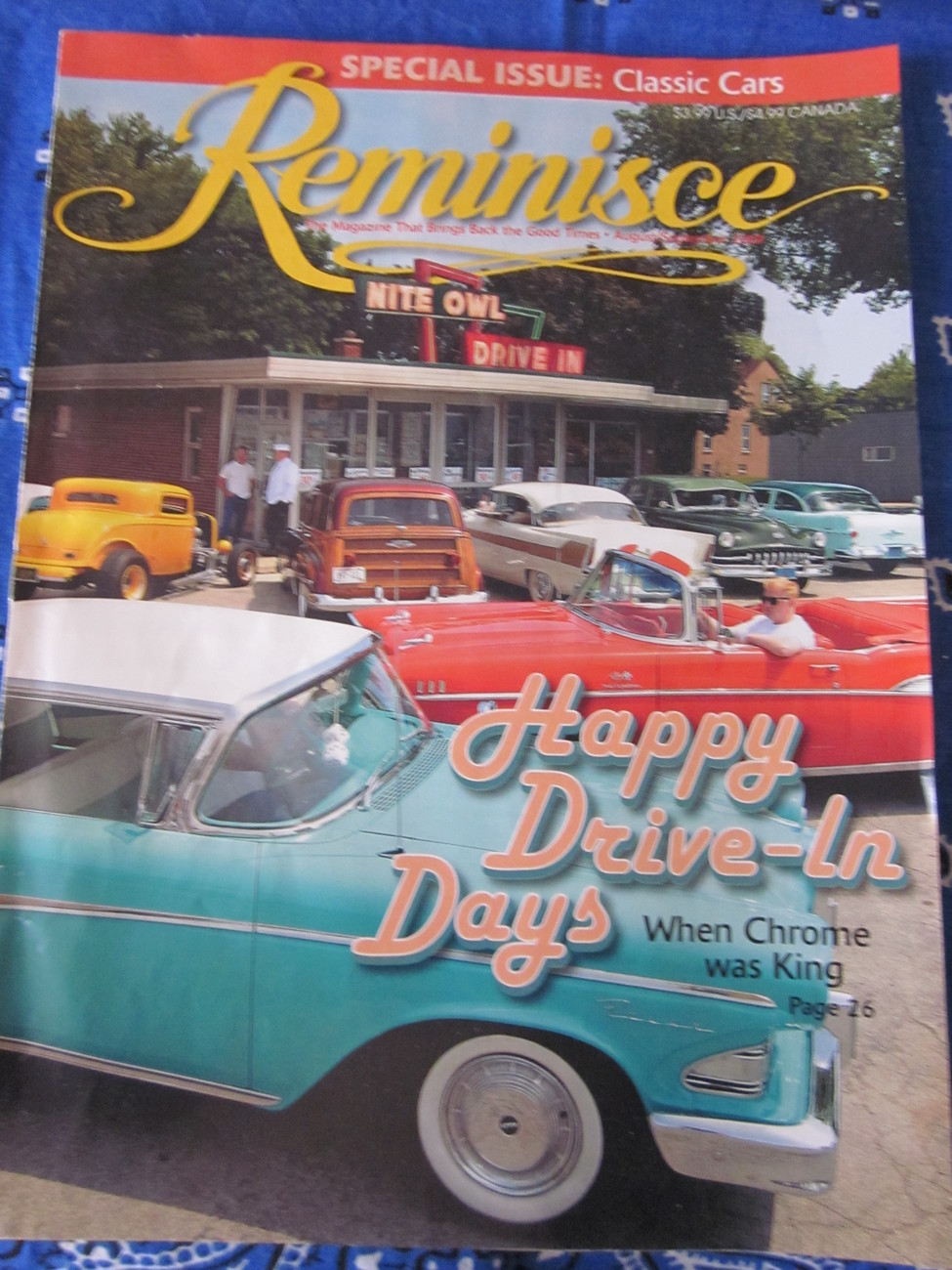 Reminisce Magazine Special Issue Classic Cars Aug / Sept 2009