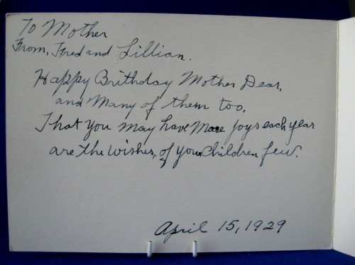 Birthday Wishes Card 1929 Cottage Poem Antique Greeting