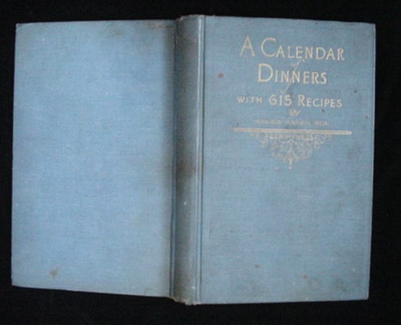 1921 Crisco Calendar Of Dinners Cook Book Marion Neil