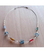 Liquid Silver Furnace Glass Bead Necklace - $24.99