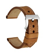 WOCCI 20mm 22mm 24mm Watch Band Thick Crazy Horse Leather For Large Wrist - $27.29