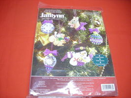 Janlynn Counted Cross Stitch Kit.  Christmas Ornaments. New..  - $4.99