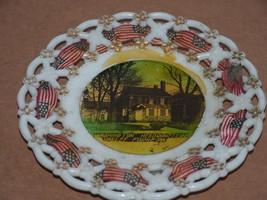 Crown Ducal GEORGE WASHINGTON MEMORIAL BLUE Headquarters Dinner Plate 61... - $114.83