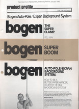 Four BOGEN Brochures from the 80's Auto Pole, Camp, Boom - $4.00
