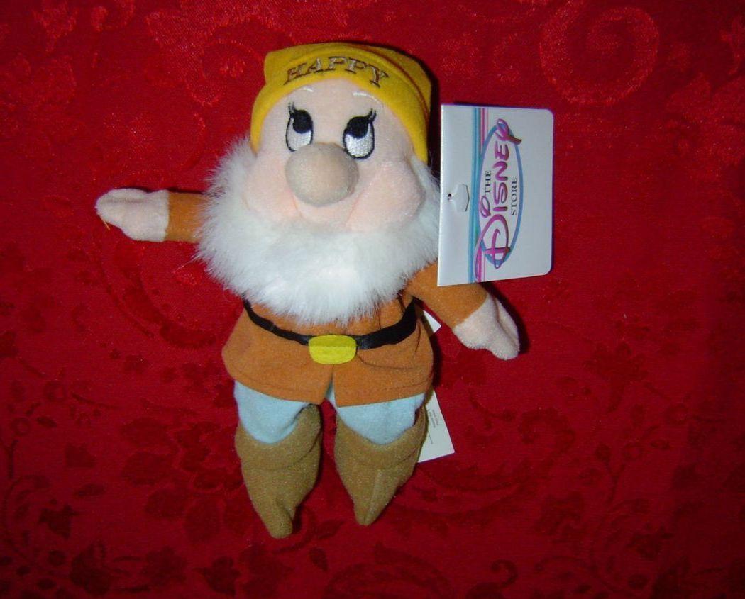 Disney Mini Bean Bag Happy Snow White Seven Dwarfs plush