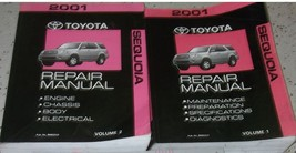 2001 Toyota SEQUOIA Service Shop Repair Workshop Manual Set OEM Factory - $138.55